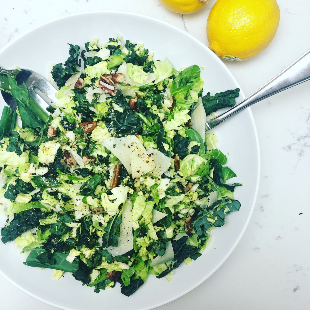Brussels & Kale Salad Recipe