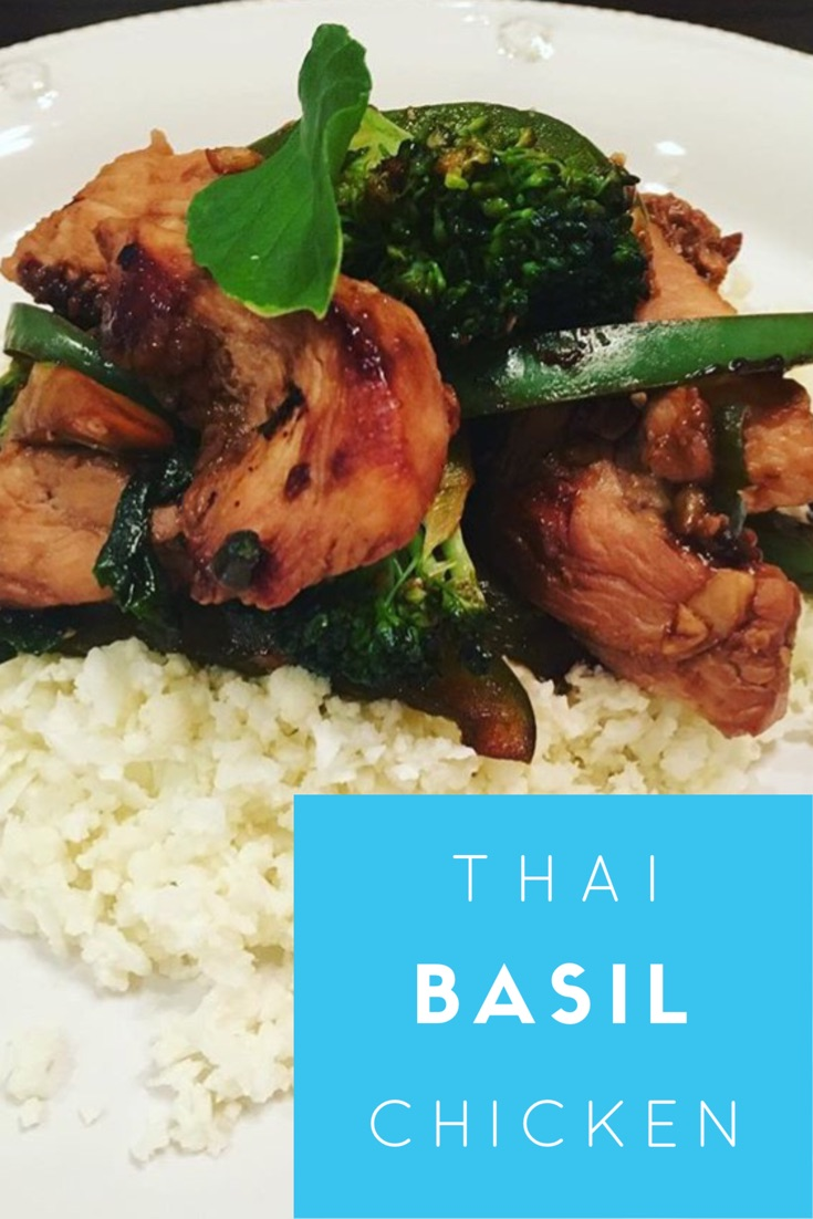 Healthy Thai Basil Chicken
