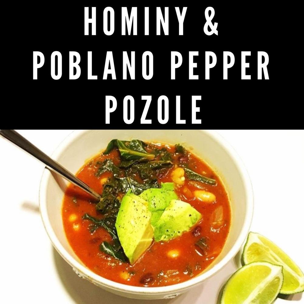 Hominy and Poblano Pepper Pozole Recipe