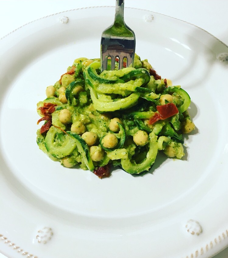 Avocado Pesto Zoodles Recipe
