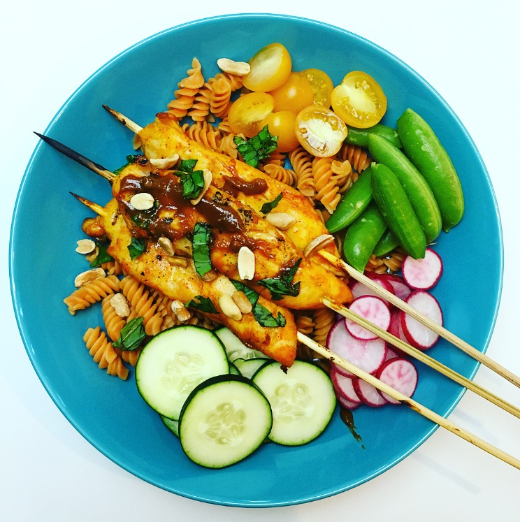 Grilled Chicken Satay with Spicy Peanut Sauce Recipe